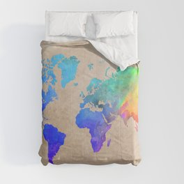 world map 42 color Comforters