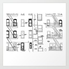 Building Front Art Print