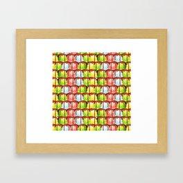 Pattern with ice cream balls Framed Art Print