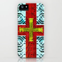 circuit board guernsey iPhone Case