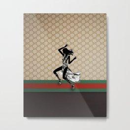 Guci Pattern dance Metal Print
