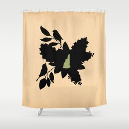New Hampshire - State Papercut Print Shower Curtain