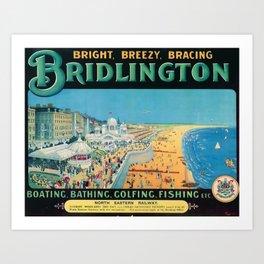 Bridlington Travel Poster Art Print