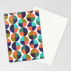 mod circles pattern Stationery Cards