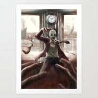 jack Art Prints featuring Jack by Rivenis Black