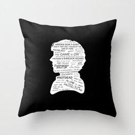 Sherlock Holmes - BBC tv show sherlock - black Throw Pillow