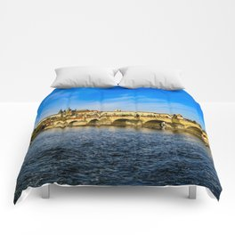 Charles Bridge in Prague Comforters