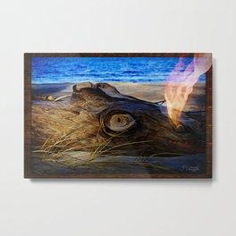 Driftwood Dragon Metal Print