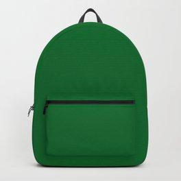 Medium Emerald / Grass Green - Autumn / Fall / Winter - Block Colours - Nature / Trees Backpack