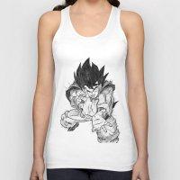 goku Tank Tops featuring Goku by DeMoose_Art