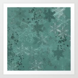 Snowflake Chrismas design Art Print