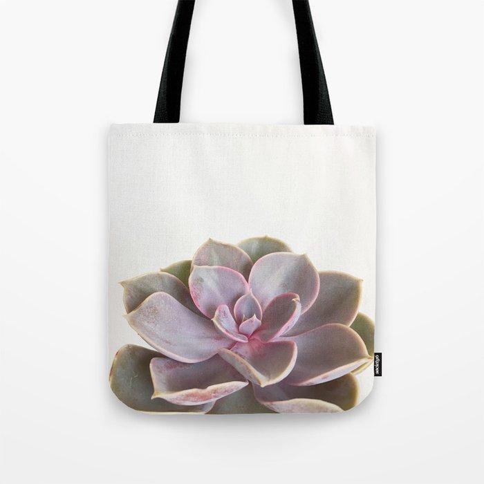 Purple Succulent Tote Bag
