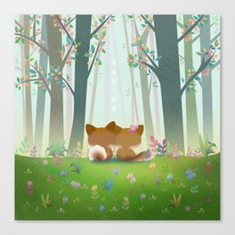 Spring Fox Canvas Print