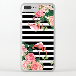 tropical flamingo Clear iPhone Case