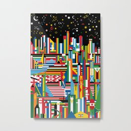 Flagscapes: World Cityscape Metal Print