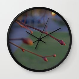 buds on a Tree Wall Clock