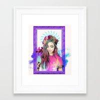 libra Framed Art Prints featuring Libra by Sara Eshak