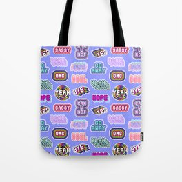 Fun patches / blue Tote Bag