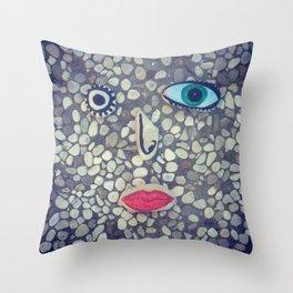 Stoneface Throw Pillow