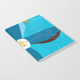 Blue Saucer Magnolia Notebook