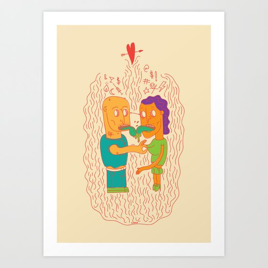 Couple in Love Art Print