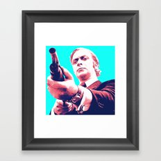 Fathers Day - Michael Caine screen print Framed Art Print
