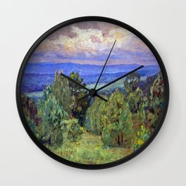Theodore Clement Steele Storm Clouds Wall Clock