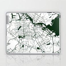 Amsterdam White on Green Street Map Laptop & iPad Skin