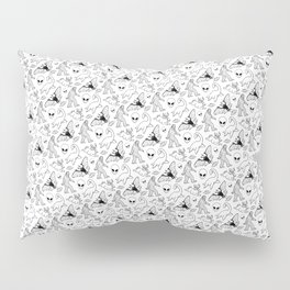 Cryptid Pattern: Ink Lines Pillow Sham