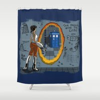 aperture Shower Curtains featuring In Need of a Companion by Miss-Lys