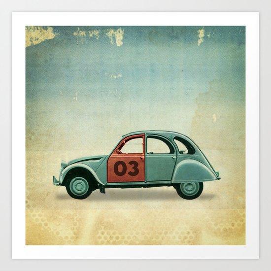 Number 03 _ Citron 2CV Art Print