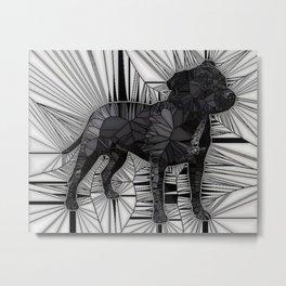 Staffordshire Bull Terrier Mosaic Metal Print