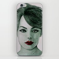 emma stone iPhone & iPod Skins featuring Emma Stone  by Kristy Holding