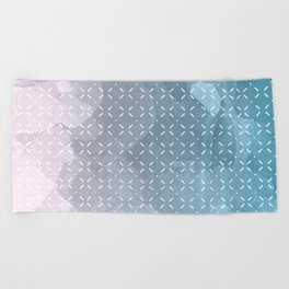 Geometric Aquarelle Beach Towel