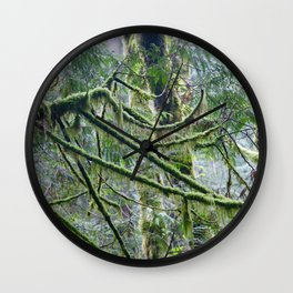 Mossy Branches Wall Clock