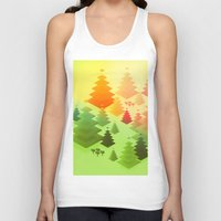 forrest Tank Tops featuring Forrest sunrise by Knightley