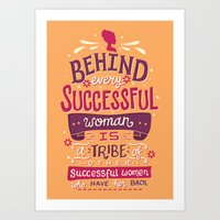 Successful women Art Print