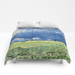 Vincent van Gogh - Wheatfield Under Thunderclouds Comforters