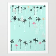 Tropical Palm Dreams  Art Print