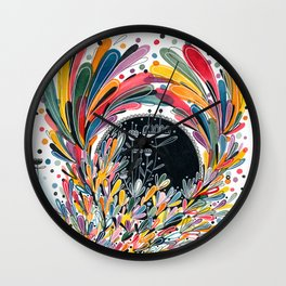 Flower Splash Wall Clock