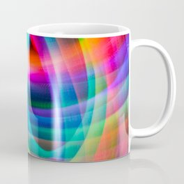 Spirograph rainbow light painting Coffee Mug