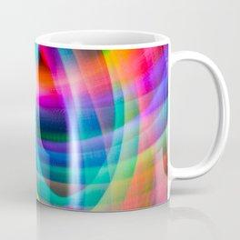 Spirograph rainbow light painting Coffee Mug
