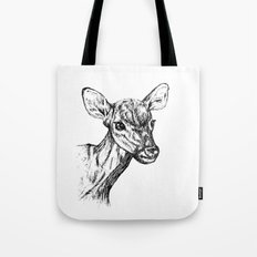 Deer - Black & White Tote Bag