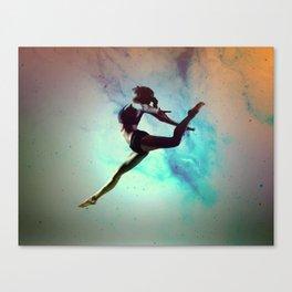 Ballet Dancer Feat Lady Dreams Abstract Art Canvas Print