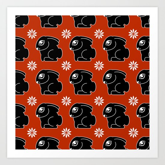 Bunnies pattern Art Print