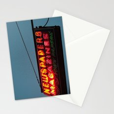 Vintage Neon Newstand Sign ~ Chicago Architecture Stationery Cards