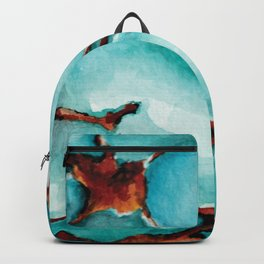 Turquoise stone watercolor Backpack