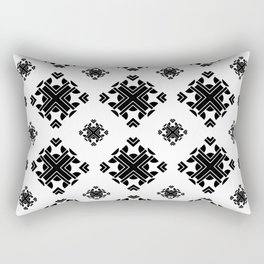 Seamless transparent black and white Geometric Pattern Rectangular Pillow