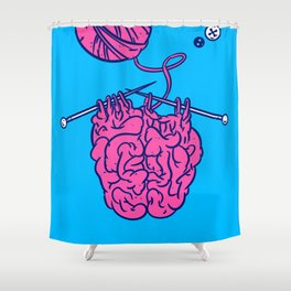 Knitting a brain Shower Curtain