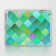 Green pattern with squares.Trendy print. Modern graphic design. Laptop & iPad Skin